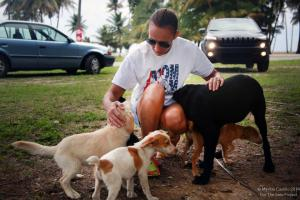 chrissy beckles with dogs
